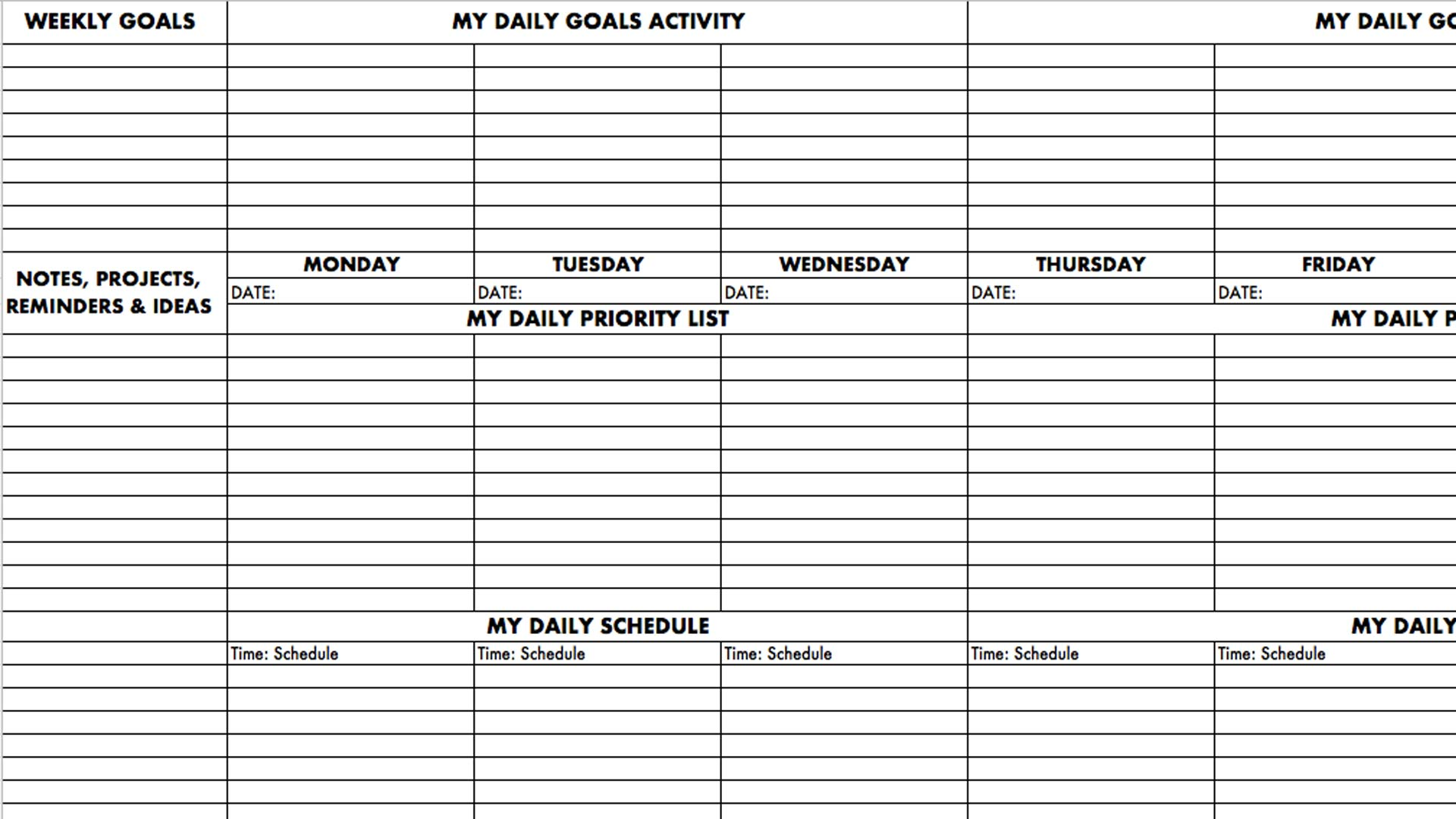 Performance Planner – Set Goals and Achieve Them